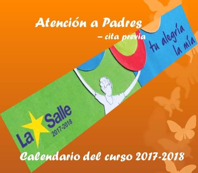 Calendario Tutorías del Curso 2017–2018