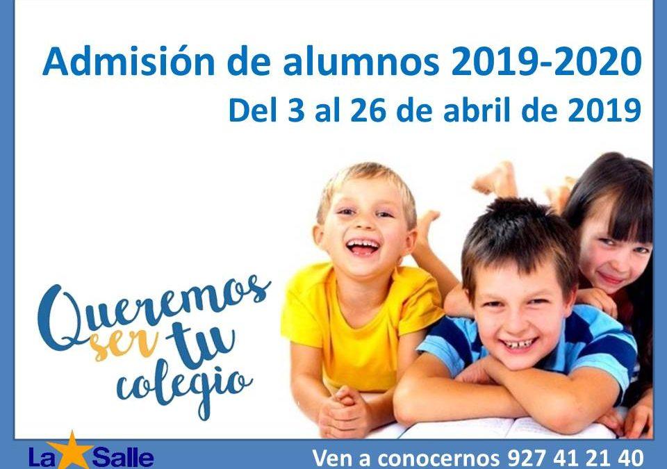 Admisión de alumnos 2019-2020